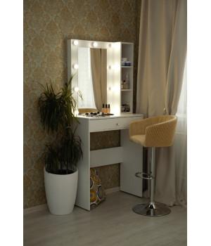 Туалетный столик 100х80 с зеркалом 80х60 и стеллажом