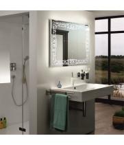 Зеркало со светодиодной подсветкой в ванную Каролина 40x40 см